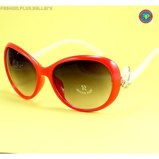 IMPORTED STYLISH UV SUNGLASS FOR GIRLS & WOMEN - RED (SGW-6) + CASE