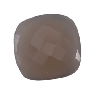 Silvesto India Natural Chalcedony Cushion 29.5 Cts Loose Gemstone PG 23939