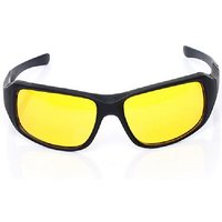 Clear Vision Wraparound Day And Night Driving Glasses Yellow Sunglas