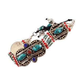 Silvesto India Multicolor Others Silver Plated Bracelets For