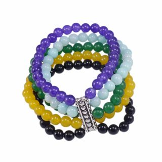 Silvesto India Multicolor Others Silver Plated Bracelets For Women