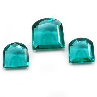 Silvesto India Sea Green Quartz Square Faceted 44.7 Cts Loose Gemstone PG-3423