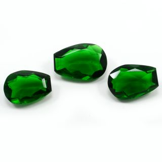 Silvesto India Green Quartz Pear Faceted 35.45 Cts Loose Gemstone PG-3424