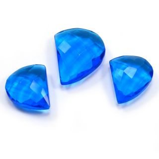Silvesto India Blue Quartz Fancy Faceted 40.5 Cts Loose Gemstone PG-3429