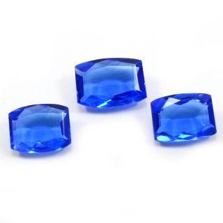 Silvesto India Blue Quartz Rectangle Faceted 43.75 Cts Loose Gemstone PG-3430