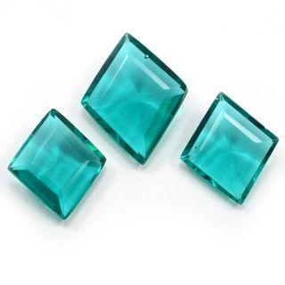 Silvesto India Sea Green Quartz Rectangle Faceted 40.7 Cts Loose Gemstone PG-3441
