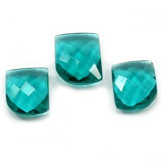 Silvesto India Sea Green Quartz Rectangle Faceted 48.7 Cts Loose Gemstone PG-3461