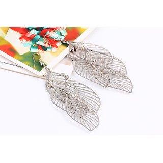 HairCandySilvery Leaf earrings for Women