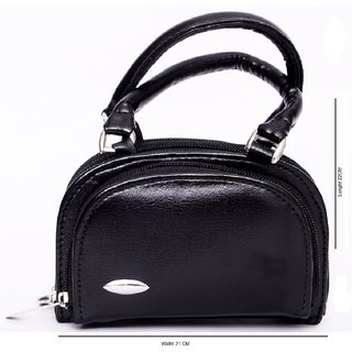 Super Bargain Sale!! Upto 80% Off On Fashion Accessories By Shopclues | Women Black Handbag ZE051 @ Rs.199
