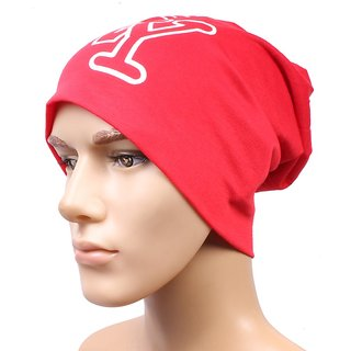 sushito Red Classic Beanies Cap For Men JSMFHCP1509M