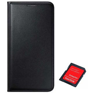 Flip cover For Lenovo A7700 (BLACK) With SD CARD ADAPTER