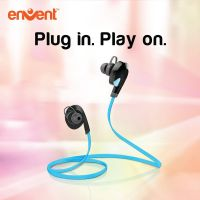 Envent LiveTune Bluetooth Earphone, in the ear technology with Mic with Great Bass - Blue