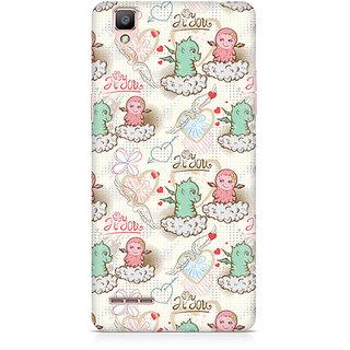 CopyCatz Cute Dragon Love Premium Printed Case For Oppo F1