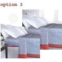 Hard Rock 100% Cotton Bedsheet Cum Top Sheet-3 Option