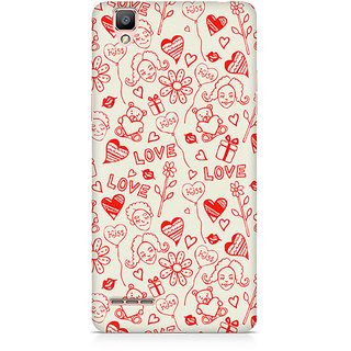 CopyCatz Love, Kiss And Gifts Premium Printed Case For Oppo F1