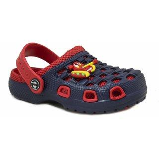 Phedarus Boys Navy & Red Comfortable EVA Clogs