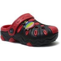 Phedarus Unisex Black & Red Comfortable EVA Clogs for Kids