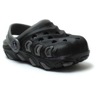Phedarus Boys Black & Grey Comfortable EVA Clogs