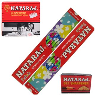 Natraj Jumbo 100 Pencils + 10 Eraser  10 Sharper Free