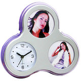 Family Photo Frame With Clock ( Flower Shape )