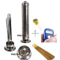 Agarbatti Multiple Steel Stick Holder Incense Stand + Finger Hand Tally Counter