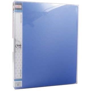 500 Card Holder - Upgradable (Pack Of 1, Blue)