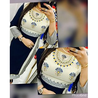 Georgette Embroidery semi stitched kurti