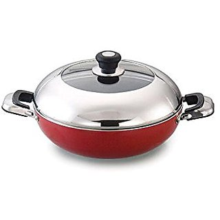 Diamond Nonstick Induction Base Kadai 24 Cms