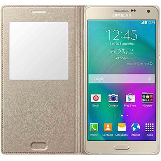 Flip Cover for Samsung Galaxy A7(Gold)