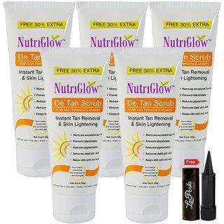 Nutriglow De Tan Scrub with Milk Proteins (Pack Of 5)