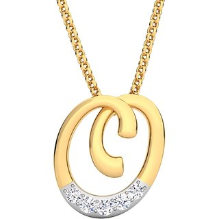 Kataria Jewellers Letter O 92.5 BIS Hallmarked Silver and American Diamond Alphabet Initial Pendant