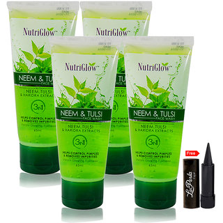 Nutriglow Neem Tulsi Face Wash (Pack Of 4)