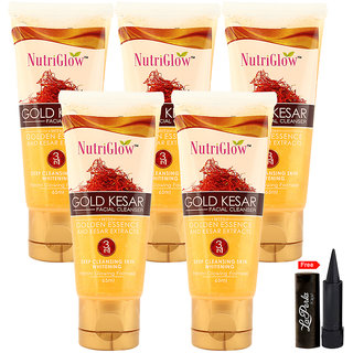 Nutriglow Gold Kesar Facial Cleanser (Pack Of 5)