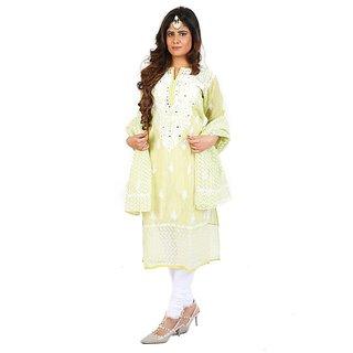 Designer Cotton Chanderi Kurta