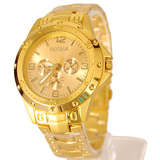 Rosra Watches For Men- Golden watch