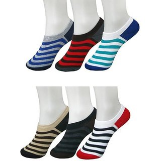 RR Accessories Men's No Show Socks(striplofar6)