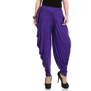 purple color cotton patiala.