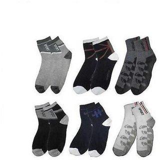 RR Accessories Mens Printed Ankle Length Socks (SP6)