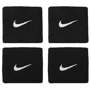 2 Sets (4 Pcs) of Sports Cotton Wrist Band - BLACK in COLOUR CODErd-3603