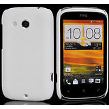 White Slim Hard Back Cover Case Pouch Skin Fit For HTC Desire C A 320e
