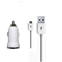 UBON 2-In-1 Car Charger  + 8 Pin Lightening Cable For Karbonn Titanium S5 / Titanium S5 + / Titanium S5 Plus