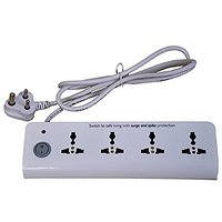 Philips 6A 4 Way Spike and Surge Guard (White)