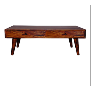 VINTEJ Smart and Stylish Sheesham Solid Wood Coffee Table in Standard Size and Weight (Brown)