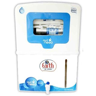 Earth RO Systems RO+UV+UF+TDS controller water purifier free pre filter 15 Ltr