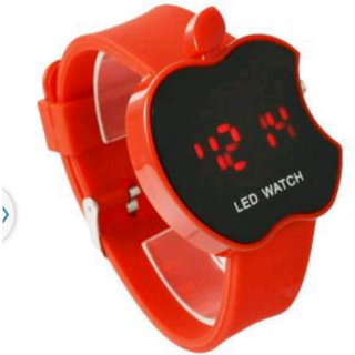 KAYRA LITTEL BOY Red Rubber Strap Mens Watch
