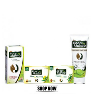 Roop Mantra Cream ( 2 ) + Roop Mantra face wash( 2 ) + Roop Mantra Soap( 2 )