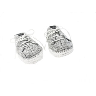 Baby Booties Handmade Crochet Baby Shoes  grey