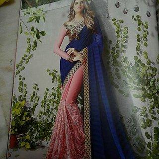 Self Design saree multicolour