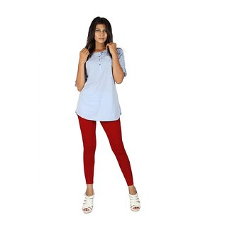 EERA Ankle Length Leggings Cherry Red