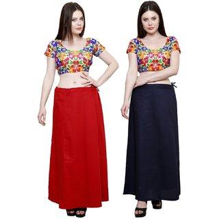 eFashionIndia Women Cotton Saree Petticoats Inskirt combo of 2